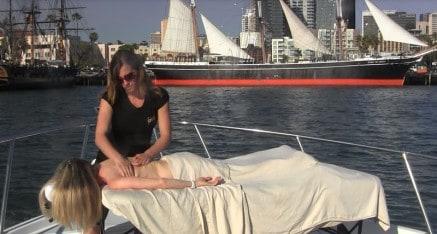 Massage on a Yacht