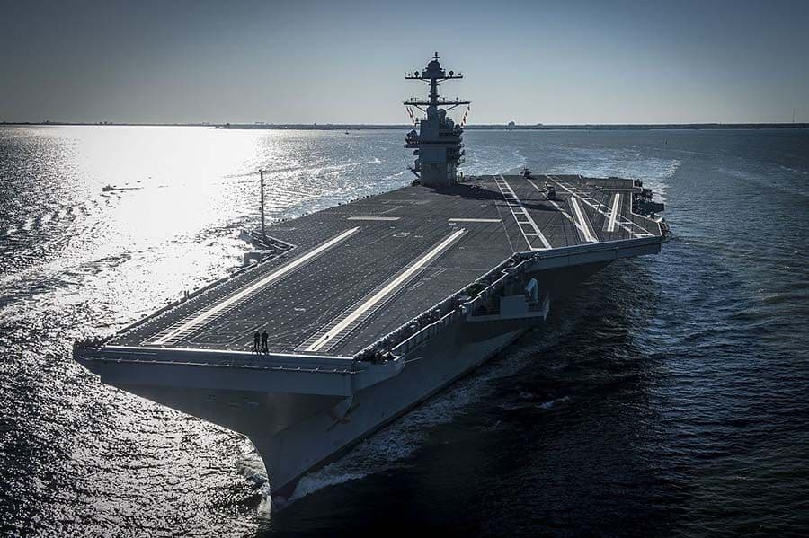 The USS Gerald Ford is the latest of a new class of aircraft carriers