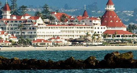Hotel Del with Zuniga Jetty in foreground