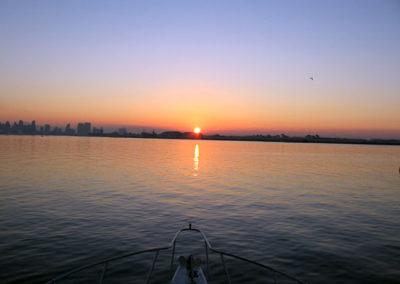 Sunrise on Yacht
